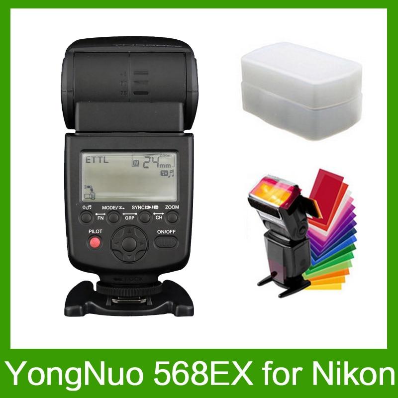 Yongnuo YN-568EX pour Nikon YN 568Ex HSS Flash Speedlite YN 568 D800 D700 D600 D200 D7000 D90 D80 D5200 D5100 + 12 pièces Cartes De Couleur