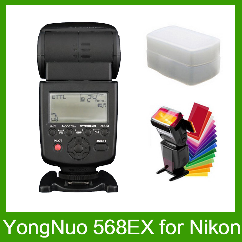 Yongnuo YN-568EX for Nikon YN 568Ex HSS Flash Speedlite YN 568 D800 D700 D600 D200 D7000 D90 D80 D5200 D5100+ 12 Pcs Color Cards yongnuo yn 500ex hss ttl flash speedlite yn500ex for canon d4 d3x d3s d3 d2x d700 d300s d300 d200 d7000 d90 d80 led flash light