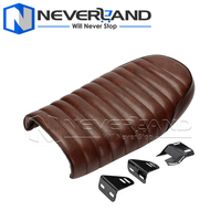 Motorcycle Seat Covers Black Brown Hump Vintage Retro Seat Cushion Motorbike Seat For Harley Cafe Racer