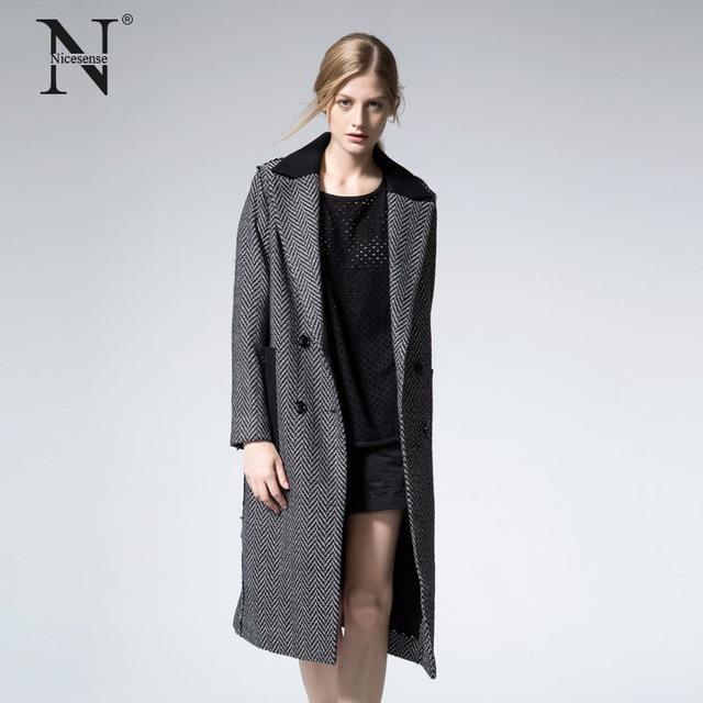 16bc261a761d Nicesense designer womens autumn coats abrigos mujer invierno 2017 coats  winter coat women manteau femme hiver casaco long coat