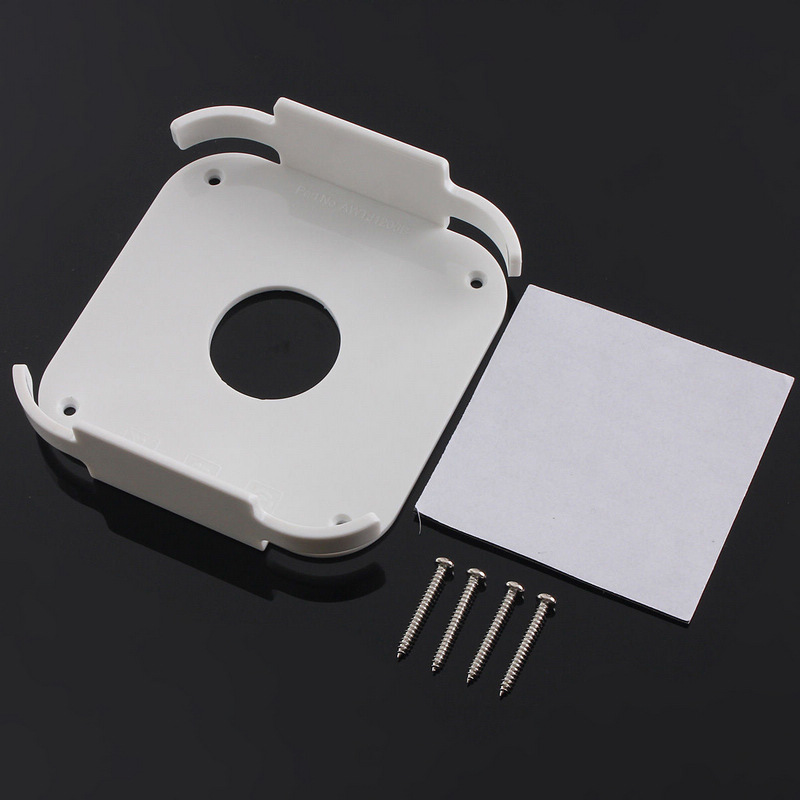 Onsale 1 Set White Plastic Wall Mount Case Bracket Holder Behind For Apple TV 2 3 & AirPort Express Series
