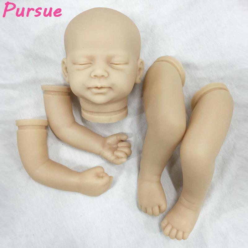 ФОТО Pursue 20 inches Unpainted Blank Reborn Doll Kits(head,legs,arms) Newborn Baby Model Set DIY Reborn,20-Inch Soft Vinyl Silicone