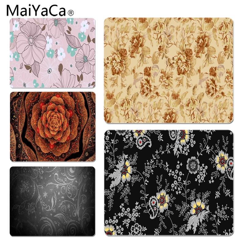MaiYaCa New Design Color Flowers Pattern Laptop Computer Mousepad Size for 18x22cm 25x29cm Rubber Mousemats