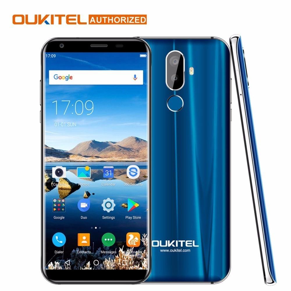 Pre-sale Oukitel K5 18:9 5.7'' Android 7.0 2GB RAM 16GB ROM MTK6737T Quad Core 8MP 3 Cameras 4000mAh Fingerprint Mobile Phone