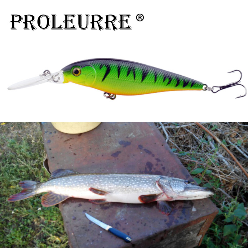 Proleurre 10 Colors Long Lip Minnow Fishing Lure 110mm 10g Aritificial Wobblers Crankbait Hard Bait Plastic Baits Pesca Isca
