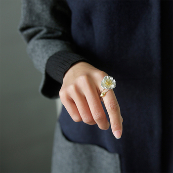 Handmade Blooming Poppies Flower Rings6