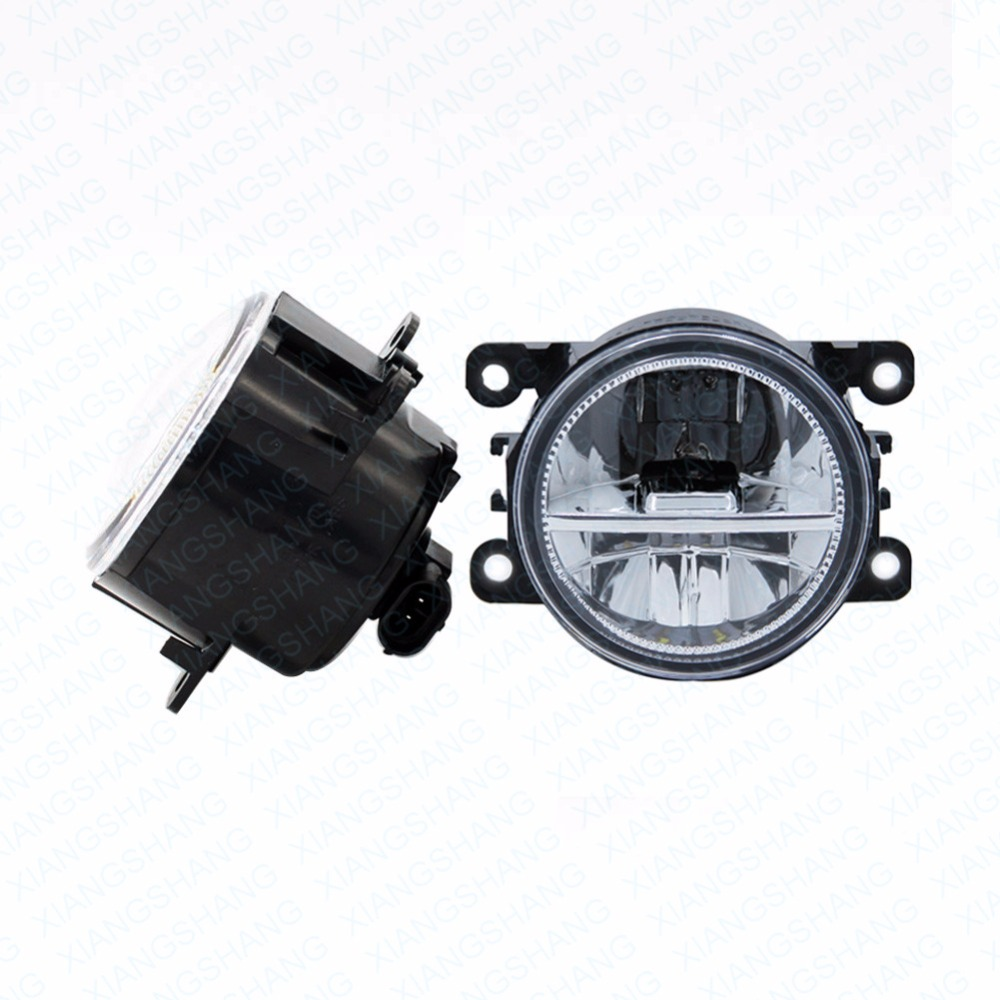 ФОТО 2pcs Car Styling Round Front Bumper LED Fog Lights DRL Daytime Running Driving fog lamps  For OPEL Vectra C GTS Hatchback 02-08