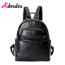 Aidoudou бренд Mochila Escolar телефон европейский и американский стиль Кожа PU Рюкзак Школьные сумки женские свободного покроя на молнии