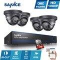 SANNCE 8-КАНАЛЬНЫЙ 1080 P CCTV Безопасности Камеры Системы HD 1080 P DVR Kit 4 ШТ. 2.0MP Камеры Видеонаблюдения 8 CH 1080 P Системы ВИДЕОНАБЛЮДЕНИЯ 1 ТБ hdd