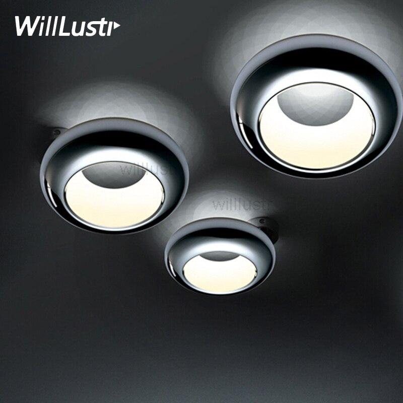 noovo aura LED ceiling lamp modern UFO ceiling light chrome copper black white ceiling lighting dinning room hotel restaurant