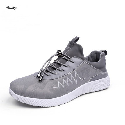 4a77c4b900f65 Akexiya Running Shoes Men New Style Breathable Mesh Sneakers Men Light Sport  Outdoor Women Shoes Color Black Gray Size EU39-44