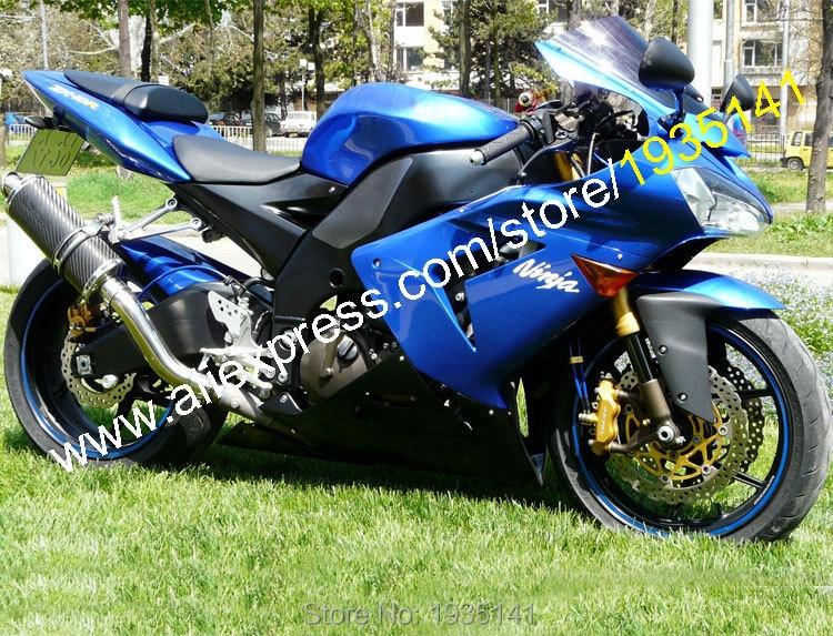 ba00f1e867c Ventas calientes, carenado para Kawasaki NINJA ZX-10R 2004 2005 ZX 10R 04  05 ZX10R azul negro Moto carenado de motocicleta (inyección)