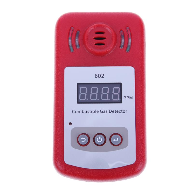 Digital Gas Detector Combustible Gas Detector Natural Gas Leak Safety Alarm System With Voice Warning Alarm Sensor