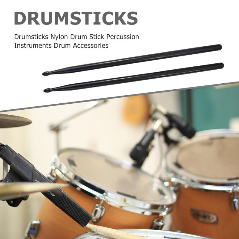 1 Pair Drumsticks Nylon Drum Stick Percussion Instruments Drum Accessories Applicable Musical Instruments In  Drum Kit 4 Colors