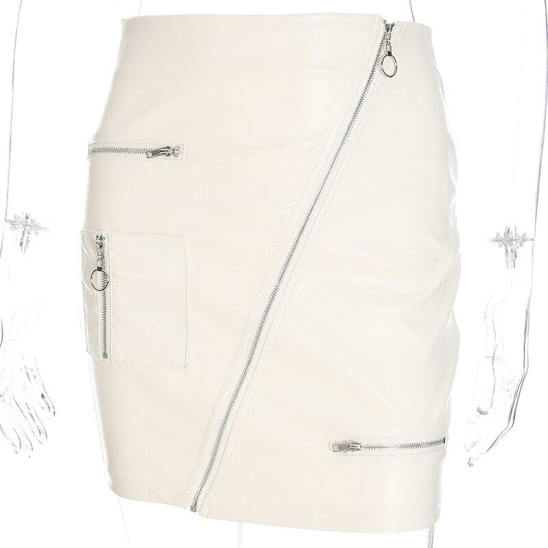 Sweetown White Korean Style Skirts Womens Street Style A Line Skirt Summer 2018 High Waist Vogue