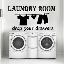 Creative Laundry Room Vinyl Kitchen Wall Stickers Wallpaper For Kids Rooms Nursery Decor Bedroom Decoration