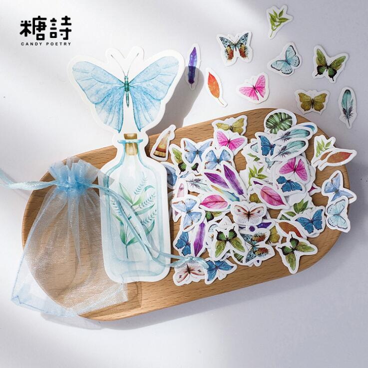 100 pcs pack the beauty of nature decorative stickers for Adhesive decoration
