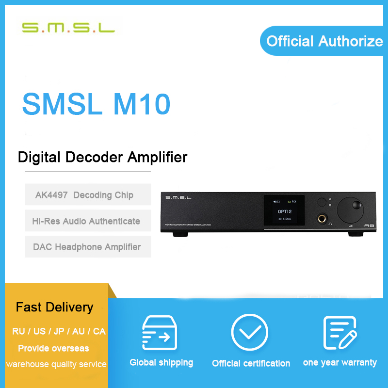 ASD SMSL A8 ICEpower 125 w Hifi Audio Digitale USB DAC + Amplificatore Per Cuffie + Amplificatore di Potenza + Decoder DSD AK4490 + TPA6120 All-in-one Macchina