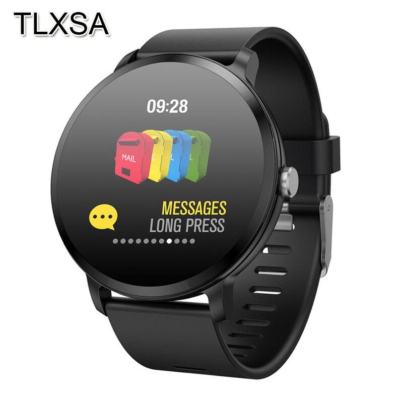 Montre intelligente activité Fitness Tracker bracelet étanche Reloj Inteligente fréquence cardiaque surveillance du sommeil Smartwatch pour hommes femmes