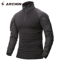 S ARCHON Multicam Uniform Military Long Sleeve T Shirt Men Camouflage Army Combat Shirt Airsoft Paintball
