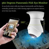 Home Security WIFI IP Camera 3D Navigation 1080P HD Night Vision Wireless 360 Degrees Panoramic Fisheye