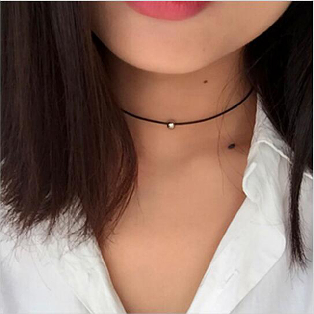 Chokers Necklace Torques Summer Punk Style Black Short Velvet Collar Necklaces F