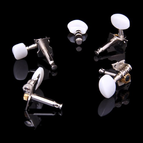 Music-S  5pcs/Set Banjo Machine Head Tuning Tuner Peg/Key with 4 Bushings sews alice aos 020b1p 2pcs left right classical guitar tuning key plated peg tuner machine head string tuner