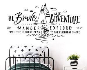 Image 1 - Motivational slogan summer camp outdoor forest sailing wall decals childrens youth bedroom vinyl home decoration wallpaper ER47