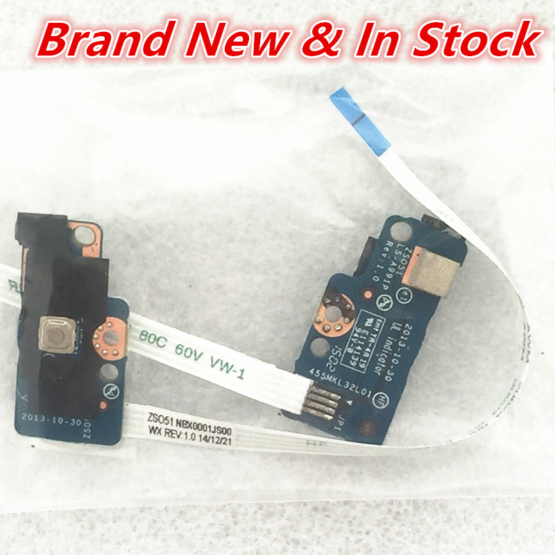 Computer Cables & Connectors Laptop Power Button Board W/ Cable For Hp 15-g On/off 749650-001 Ls-991p Button Series Power Switch Board 100% Original