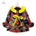 2017 Ropa niños dashiki Africano Tradicional de algodón A Juego Vestidos de África Imprimir Niños ropa de bebé de algodón superior BRW WYT21