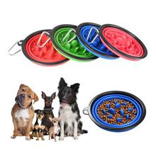 Pet Folding Bowl Dog Food Water Feeding Portable Travel With A Safety Buckle Healthy And Non-toxic