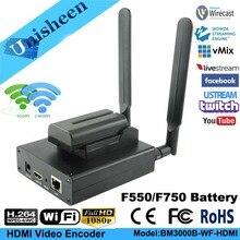 Unisheen H.264 HDMI فيديو التشفير منخفضة Lantency الارسال كاميرا إلى Ip البث المباشر اللاسلكية الفيسبوك يوتيوب Ustream Wowza