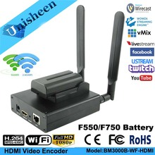 Unisheen H.264 HDMI koder wideo niska Lantency nadajnik kamera do Ip transmisja na żywo bezprzewodowy Facebook Youtube Ustream Wowza