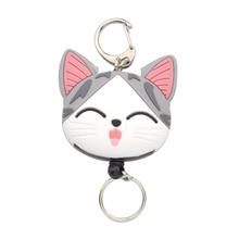 Totoro Rilakkuma Cheese Cat Retractable Key Chain