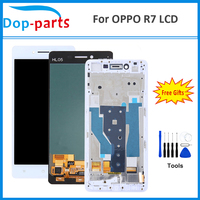 5.0 IPS LCD For OPPO R7 LCD Dispaly Touch Screen Screen Digitizer Assembly 100% Working Fast Shipping Black White Grade AAA+++