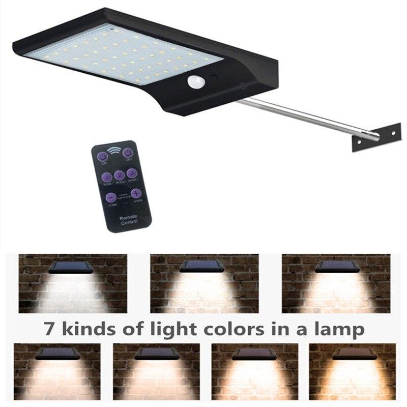 Garden Lamp Ousam LED Solar Light 48led PIR Motion Sensor With Remote Control Solar Powered Street Light Outdoor Lighting