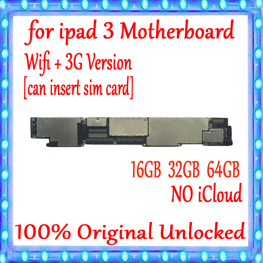 wifi version wifi 3G version Motherboard for ipad 3 Motherboard with full chips Original unlocked for
