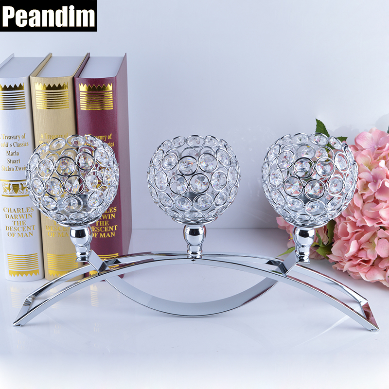 PEANDIM Religious Activities Decorations 3-Candles Centerpieces Crystals Votive Candle HoldersPEANDIM Religious Activities Decorations 3-Candles Centerpieces Crystals Votive Candle Holders