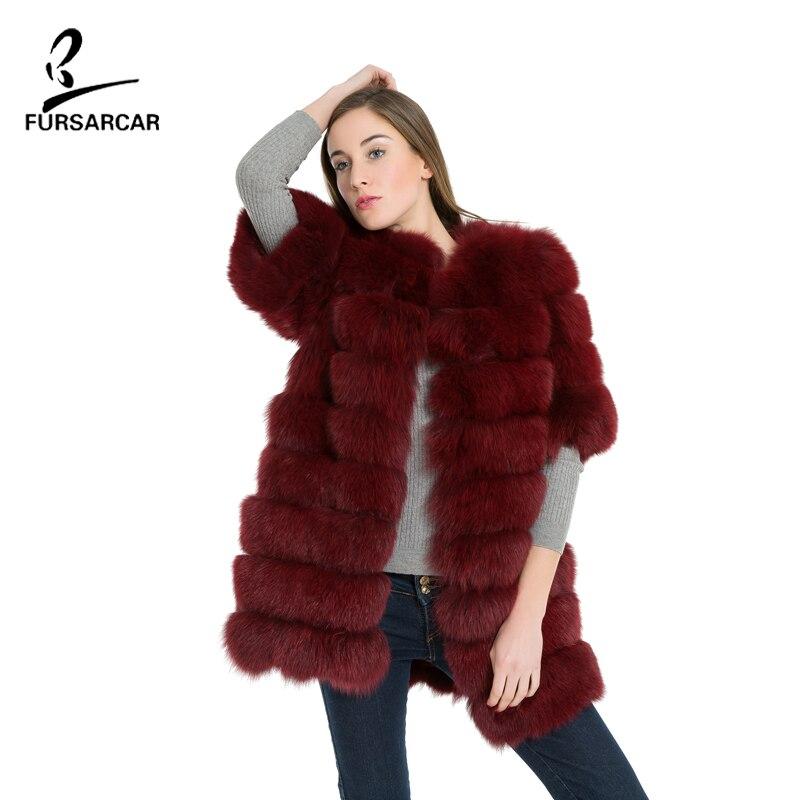 FURSARCAR Natürliche Echte Fuchspelzmantel Frauen Winter Natrual - Damenbekleidung - Foto 1