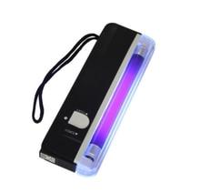 הכי חדש 2 In1 כף יד UV משולב Led אור לפיד מנורת שימושי שטרות גלאי מטבע מזויף כסף גלאי