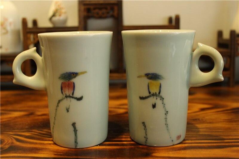 drinkware porcelāns balta keramika zakka tējas krūze krūze - Virtuve, ēdināšana un bārs - Foto 4