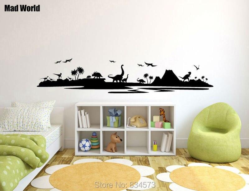 Mad World Dinosaur Landscape Assorted Dinosaurs Wall Art
