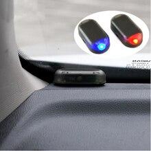 1 قطعة الطاقة الشمسية إنذار سيارة مصباح الأمن نظام تحذير سرقة فلاش لفولكس واجن VW Golf 5 6 7 باسات B5 B6 B7 B8 MK4 MK5 MK6