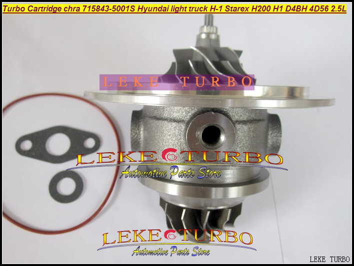 Turbo Cartridge CHRA GT1749S 715843-0001 715843 Turbocharger For HYUNDAI Starex H1 H200 H-1 light truck H-100 D4BH 4D56 TCI 2.5L gt1749s turbolader 716938 5001s turbo core 716938 turbo 28200 42560 2820042560 turbo chra for hyundai h 1 hyundai starex