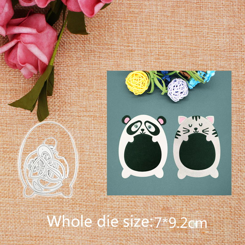 Cute Cat Metal Cutting Dies for Craft Scrapbooking Stamps DIY Card Metal Cutting Dies 2019 New 7 9 2cm in Cutting Dies from Home Garden