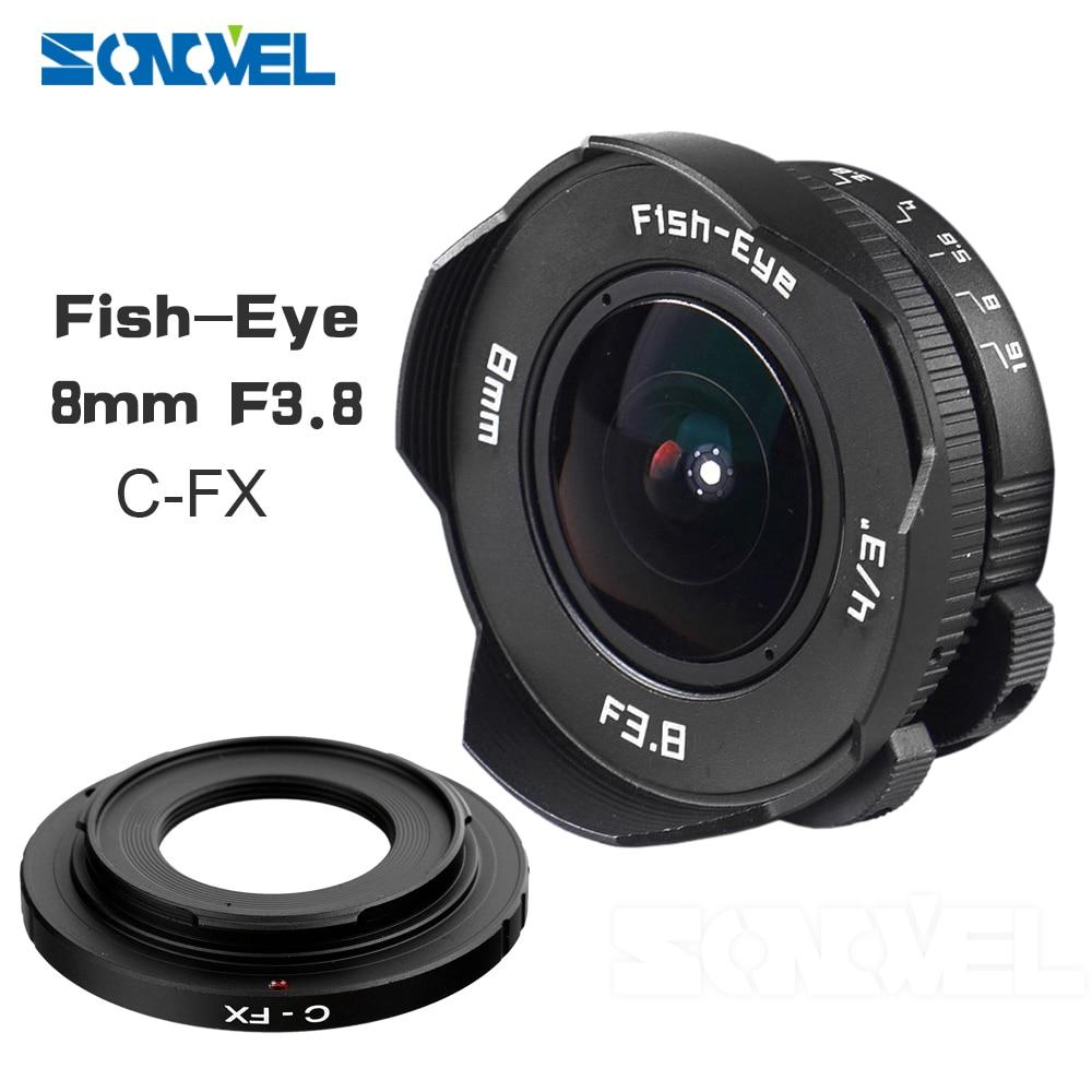8mm F3.8 Fish-eye C montent Fisheye Grand Angle Lentille focale Lentille oeil de Poisson Costume Pour Fuji Fujifilm X-E2 X-E1 X-Pro1 X-M1 X-A2