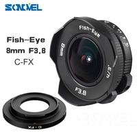 8mm F3.8 Fish-eye C mount Wide Angle Fisheye Lens Focal length Fish eye Lens Suit For Fuji Fujifilm X-E2 X-E1 X-Pro1 X-M1 X-A2
