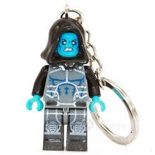 XINH 081 Electro Super Hero Minifigure Darth Maul Keychain Keys Custom Ring Keychain DIY Handmade Key Chain Building Blocks Toy