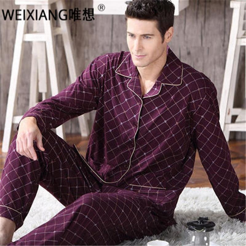 2017 Automne Hiver Hommes Pyjama Ensemble 100% Coton Tournent Vers Le Bas de Bande Dessinée Pyjama Mâle Salon Usure De Nuit Épaisse Chaud Accueil vêtements