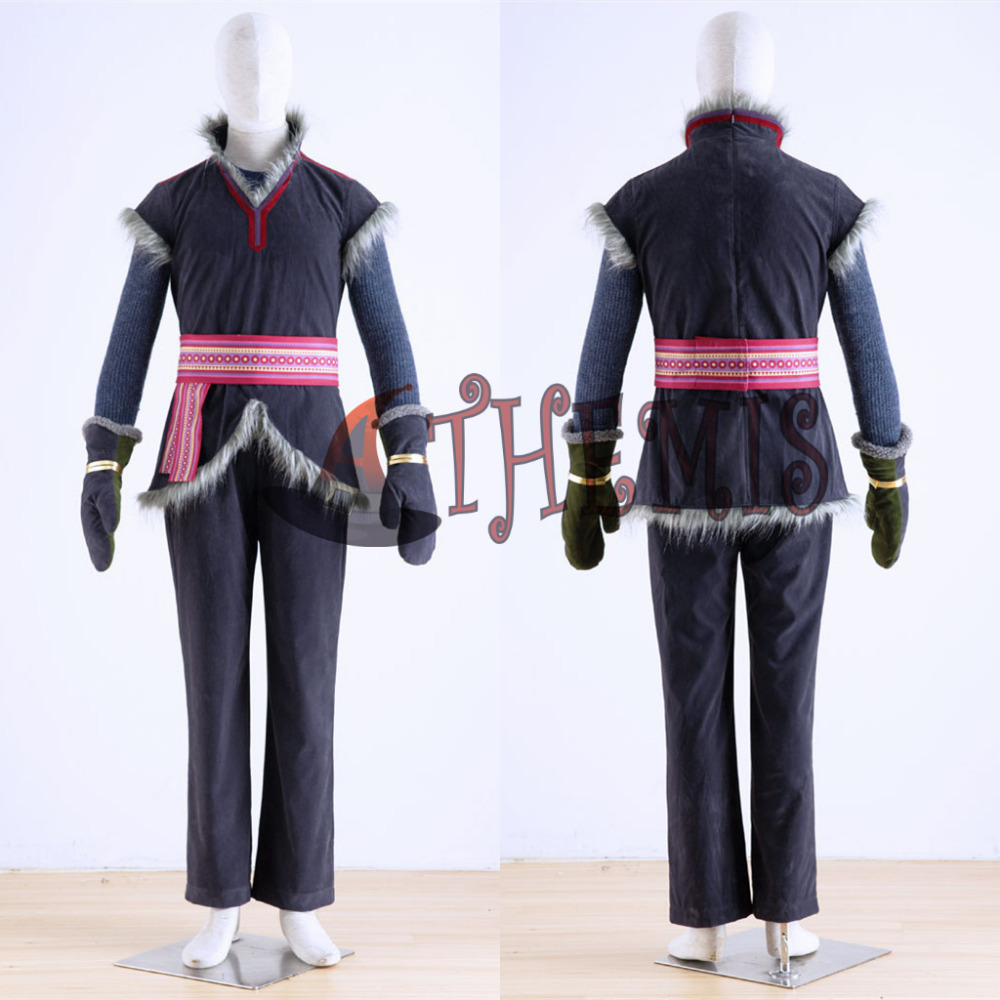Athemis Kristoff costume Cosplay toute taille haute qualité gants gilet pull pantalon ceinture tenue